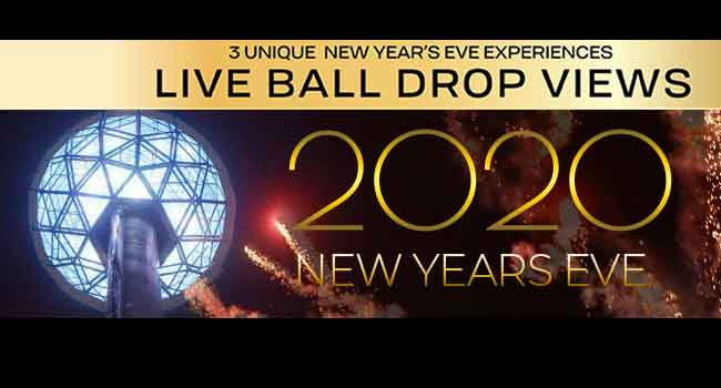 New Year's Eve Parties with LIVE BALL DROP Views
