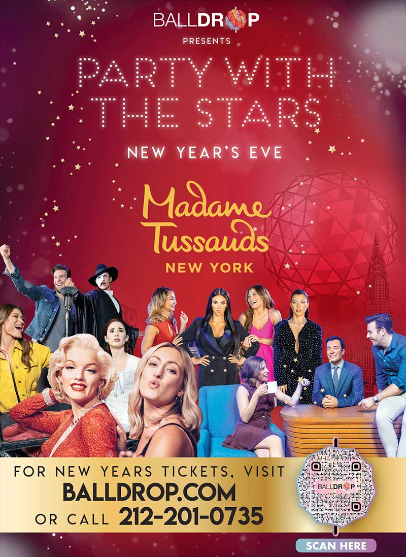 Madame Tussauds Times Square New Years Eve 2017