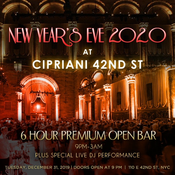 Cipriani NYC Times Square New Years Eve 2019