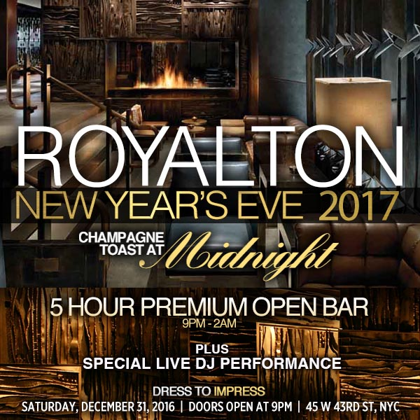 Times Square New Years Eve at Royalton NYC | NYC New Years Eve 2021