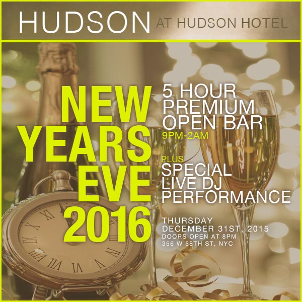 Times Square New Years Eve at Hudson Hotel NYC | NYC New Years Eve 2021