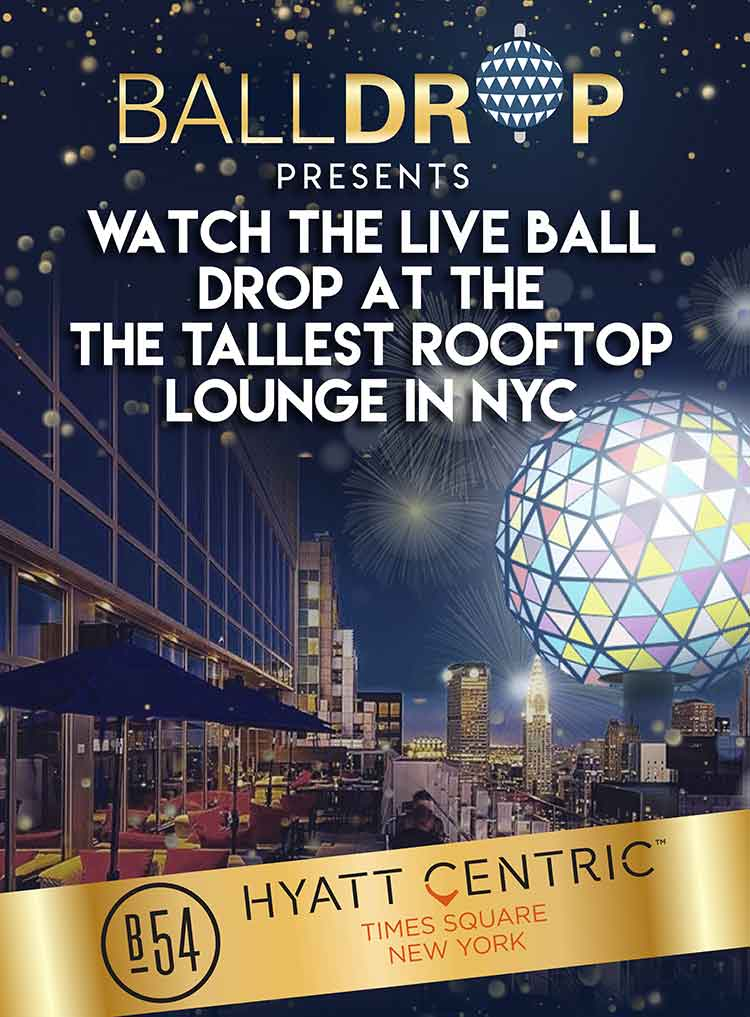 Bar 54 at Hyatt Centric Times Square New Years Eve 2020