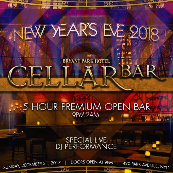 Times Square New Years Eve At Cellar Bar At Bryant Park