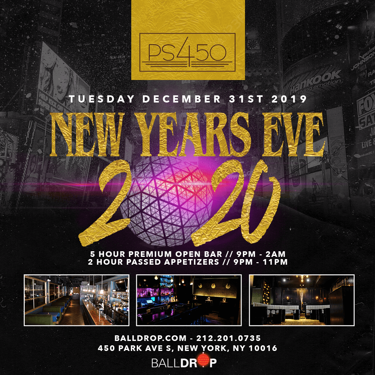 PS 450 NYC New Years Eve 2020