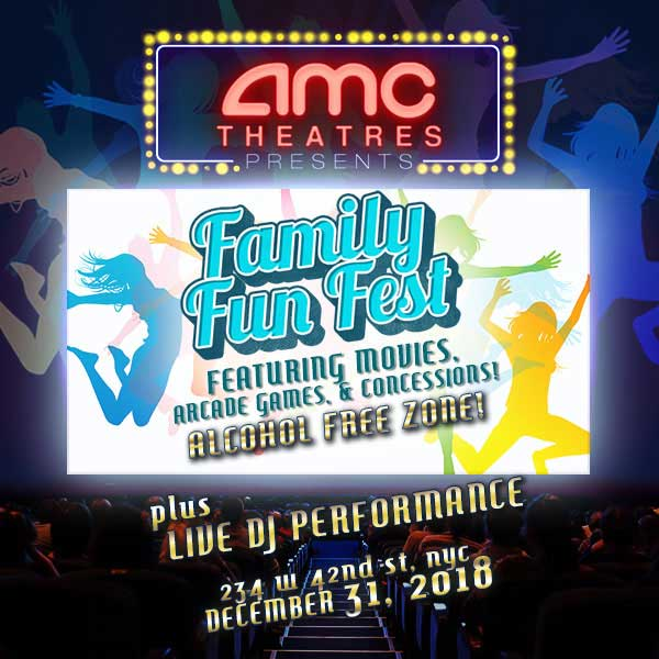 Times Square New Years Eve at AMC 42 (All Ages) | NYC New Years Eve 2020