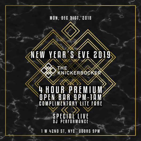 Times Square New Years Eve at The Knickerbocker NYC   NYC ...