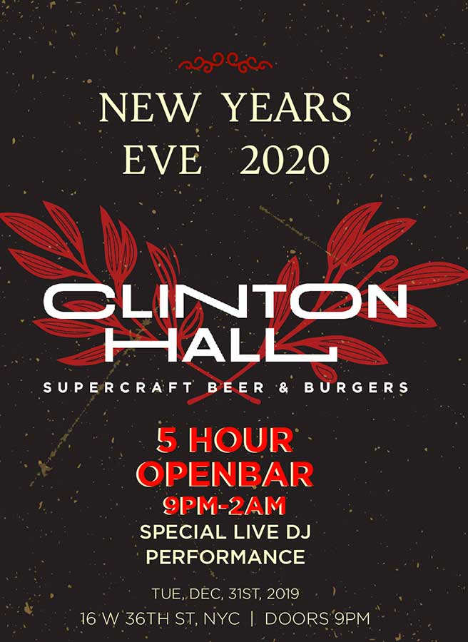 Times Square New Years Eve at Clinton Hall NYC | NYC New ...