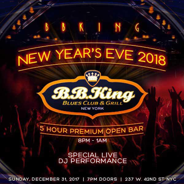 BB King Blues Club Times Square New Years Eve 2018