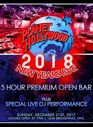 Planet Hollywood Times Square New Years Eve 2015