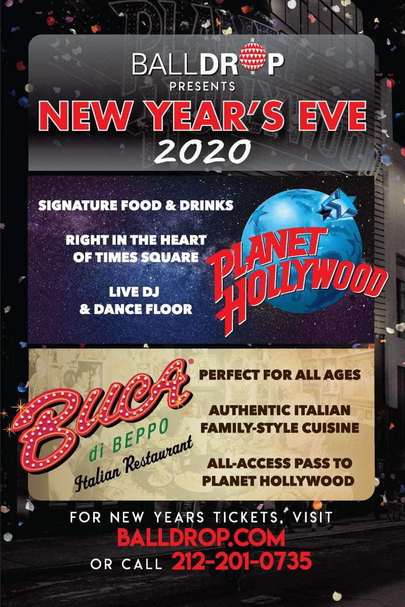 Planet Hollywood Times Square New Years Eve 2017