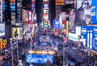2019 New Years Eve in New York City Times Square Parties