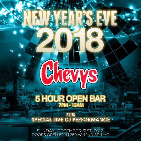 Chevy's Times Square New Years Eve 2019