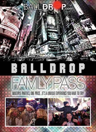 Times Square's Official Family Pass New Years Eve 2016