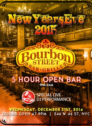 Bourbon Street Times Square New Years Eve 2015