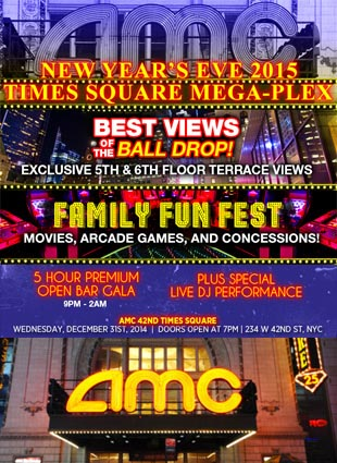 AMC 42nd Street Times Square New Years Eve 2015