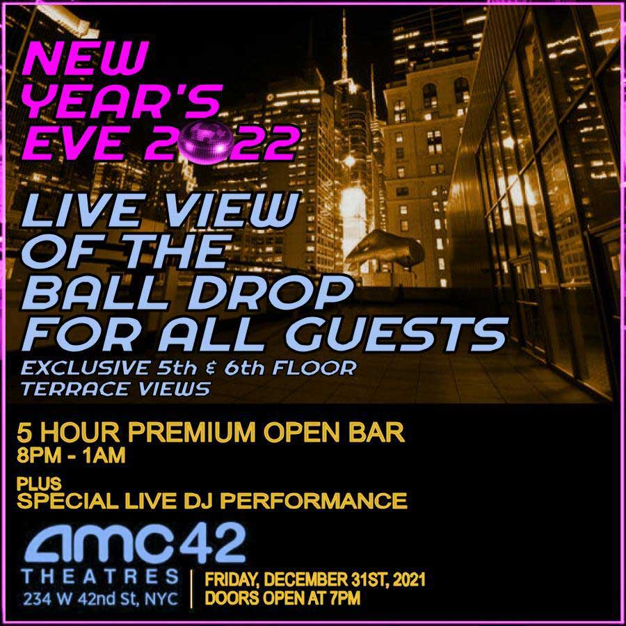 La New Years Eve 2020 Times Square New Years Eve at AMC 42nd Street NYC | NYC New