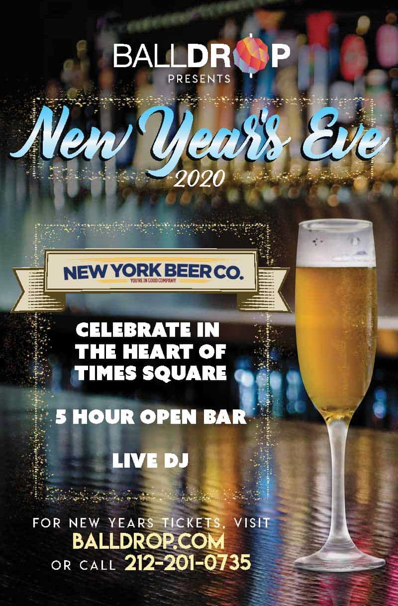 Times Square New Years Eve at New York Beer Company | NYC ...