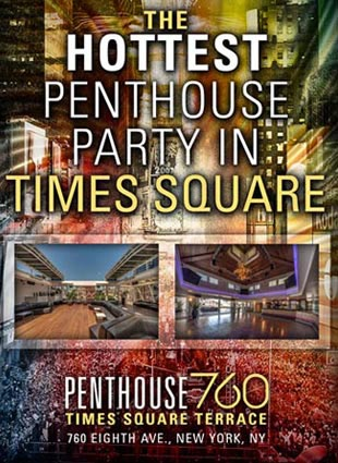 Penthouse 760 Times Square New Years Eve 2018