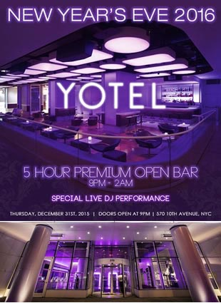 Times Square New Years Eve at Yotel   NYC New Years Eve 2021