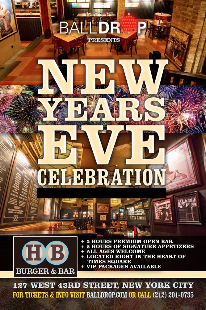 HB Burger Times Square New Years Eve 2020