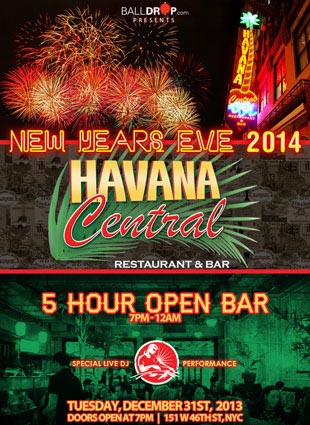 Times Square New Years Eve at Havana Central | NYC New Years Eve 2021