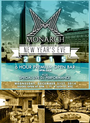 Times Square New Years Eve at Monarch Lounge NYC | NYC New ...