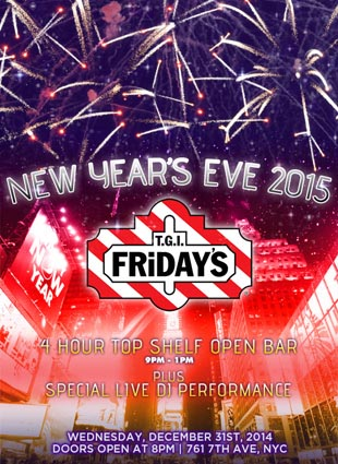 TGI Friday's Times Square New Years Eve 2015