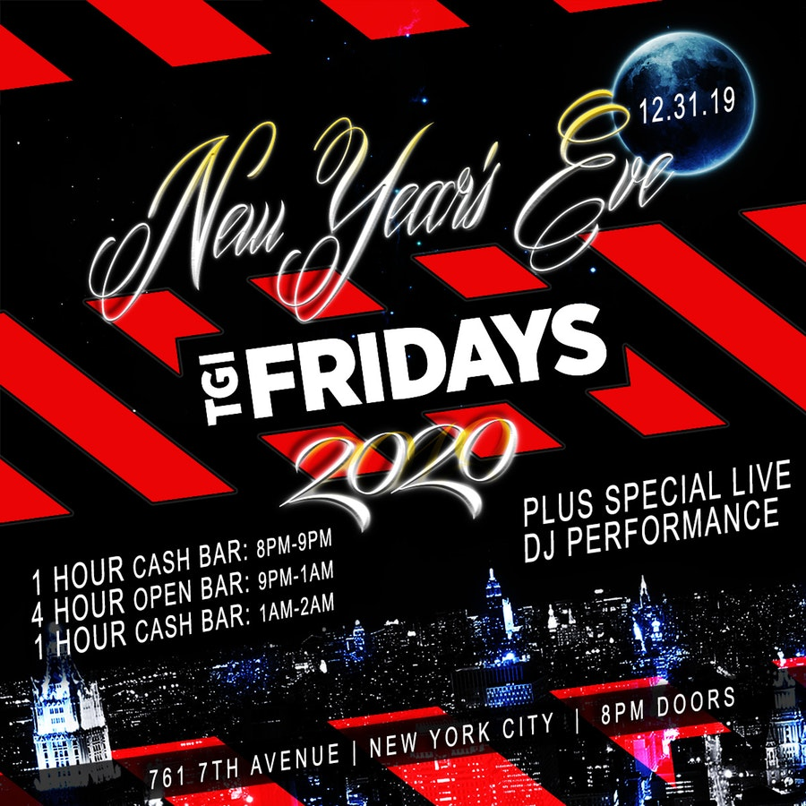 TGI Friday's Times Square New Years Eve 2017