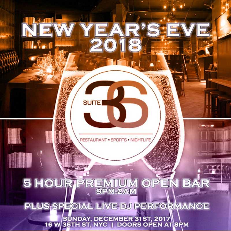 Suite 36 Times Square New Years Eve 2018