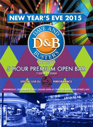 Dave and Busters Times Square New Years Eve 2015