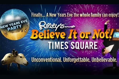 Ripley's Believe It Or Not NYC Times Square New Years Eve 2018
