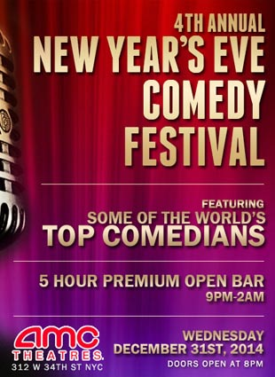 AMC 34 Comedy Festival New Years Eve 2015