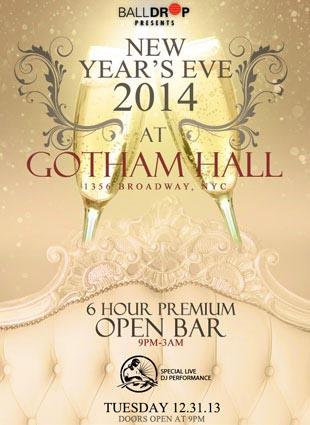 Gotham Hall NYC New Years Eve 2015
