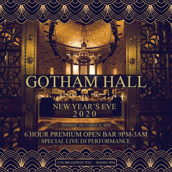 Gotham Hall NYC New Years Eve 2019