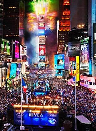 Times Square New Years Eve at New Years Eve Viewing Gallery  NYC New Years Eve 2020